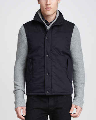 Fenchurch Quilted Vest, Navy