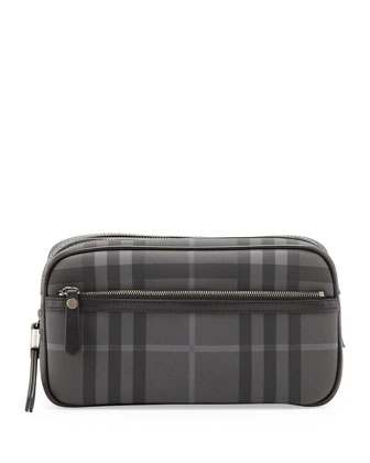 Men's Check Toiletry Bag, Brit Check