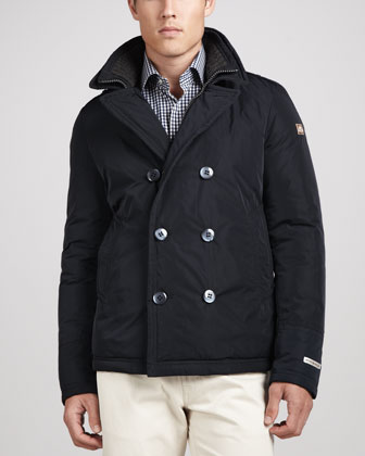 Bergamo Double-Breasted Coat, Navy