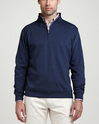 Interlock 1/4-Zip Sweater, Patriot Navy