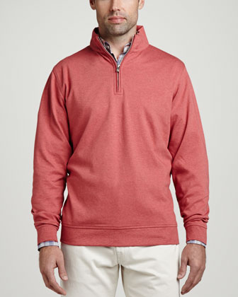 Interlock 1/4-Zip Pullover, Antique Rose