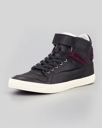 Street Climber III Mid Leather Sneaker, Black