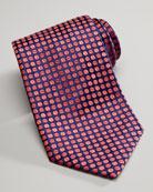 Beans Silk Tie, Navy/Red