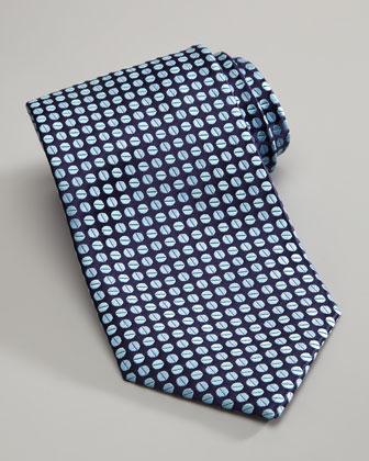 Beans Silk Tie, Navy/Blue