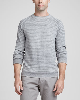 Sanders Spaced-Dyed Sweater, Gray