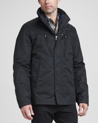 4-in-1 Short Jacket, Black