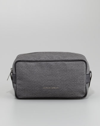 Coated Toiletry Bag, Gray