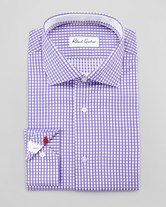 Lyon Gingham Dress Shirt, Purple
