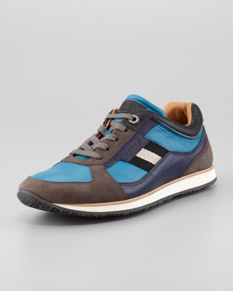 Oklahoma Low-Top Sneaker, Bright Blue