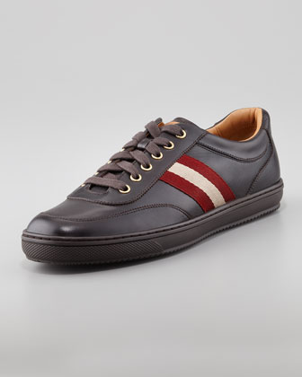 Olympia Low-Top Sneaker, Dark Brown