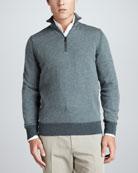 Roadster Half-Zip Cashmere Sweater, Green