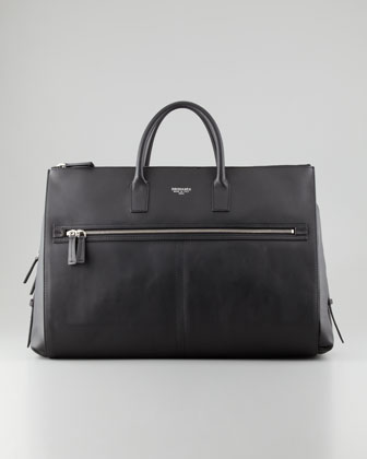 Large Leather Duffel Bag, Black