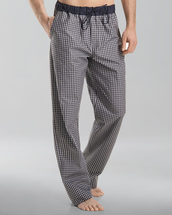 Night & Day Lounge Pants, Black Check