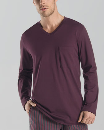 William Long-Sleeve Shirt, Ruby Red