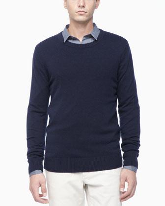Cashmere Crew Neckline Sweater, Navy