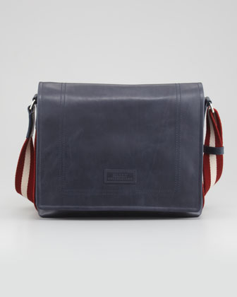 Trainspotting Men's Messenger Bag, Blue