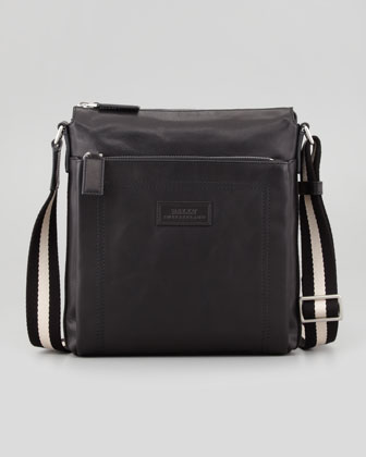 Trainspotting Men's Zip Messenger Bag, Black