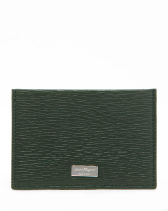 Revival Flat Card Case, Green/Blue