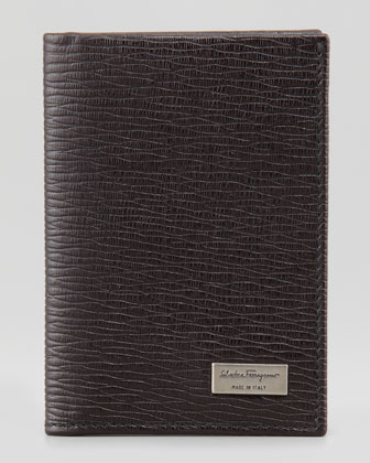 Revival Vertical Card Case, Brown