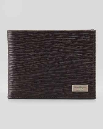 Revival Bi-Fold Leather Wallet, Brown