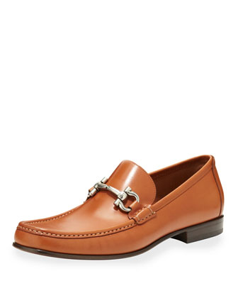 Giordano Leather Bit Loafer, Tan