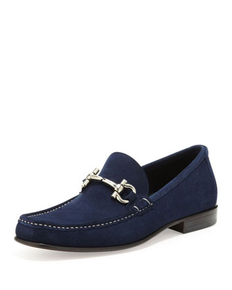 Giordano Suede Bit Loafer, Blue