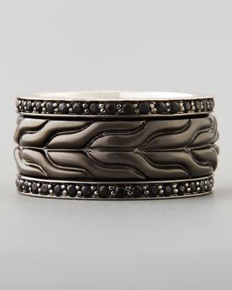 Men's Black Bronze Sapphire Ring