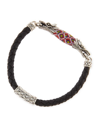 Men's Naga Leather Borneo-Bead Bracelet