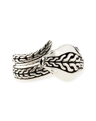 Men's Chain Sterling Silver Cobra Ring