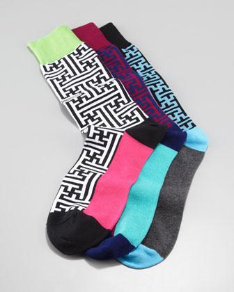 Men's Maze Socks, 3 Pack