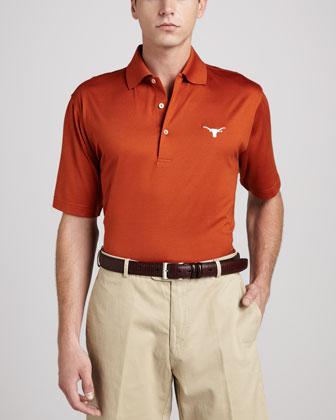 University of Texas Longhorn Gameday Polo College Shirt, Orange