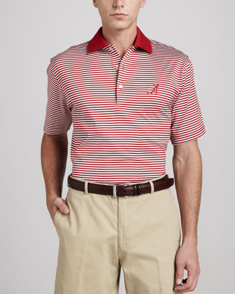 Alabama Gameday Polo College Shirt, Striped