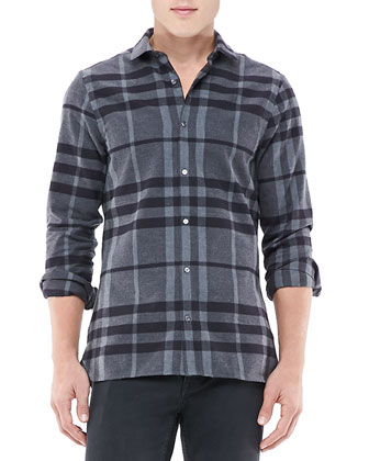 Pulberry Shirt, Dark Charcoal Check