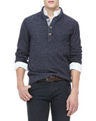 Shawl Collar Sweater, Navy