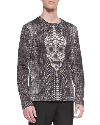 Leather/Python Bomber Jacket, Skull/Snake Printed Shirt & Wool/Mohair Dress ...