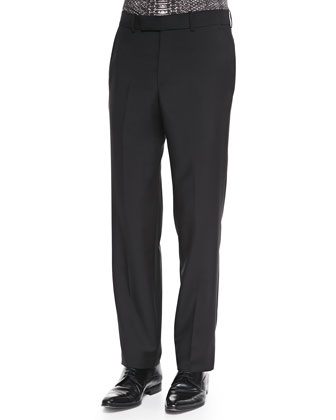Wool/Mohair Dress Pants, Black