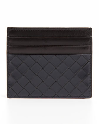 Scolpito Flat Card Case, Navy