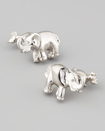 Elephant Sterling Silver Cuff Links