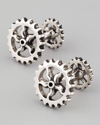 Antique Gear Wheel Cuff Links