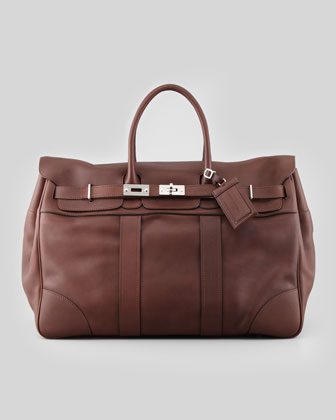 Oiled Leather Country Bag, Brown
