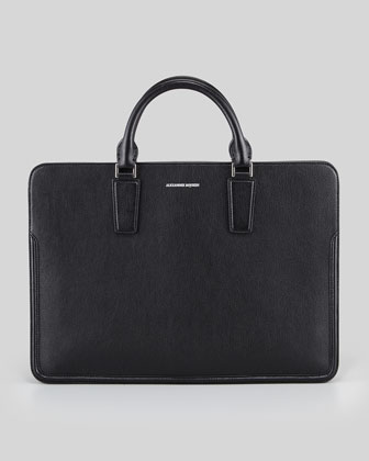 Heroic Slim Zip Briefcase, Black