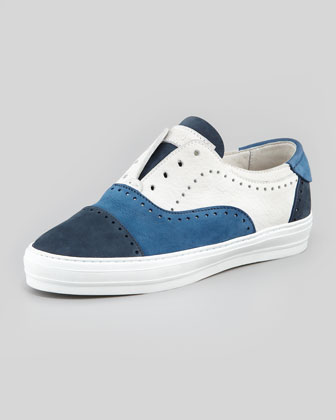 Men's Colorblock Suede Perforated Sneaker