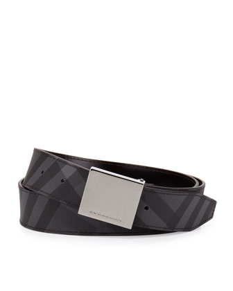 Plaque-Buckle Belt, Black