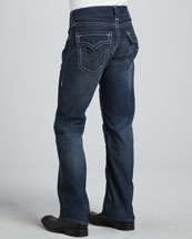 Billy Boot-Cut Jeans, Blue