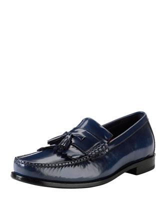 Hudson Kiltie-Tassel Loafer, Blue