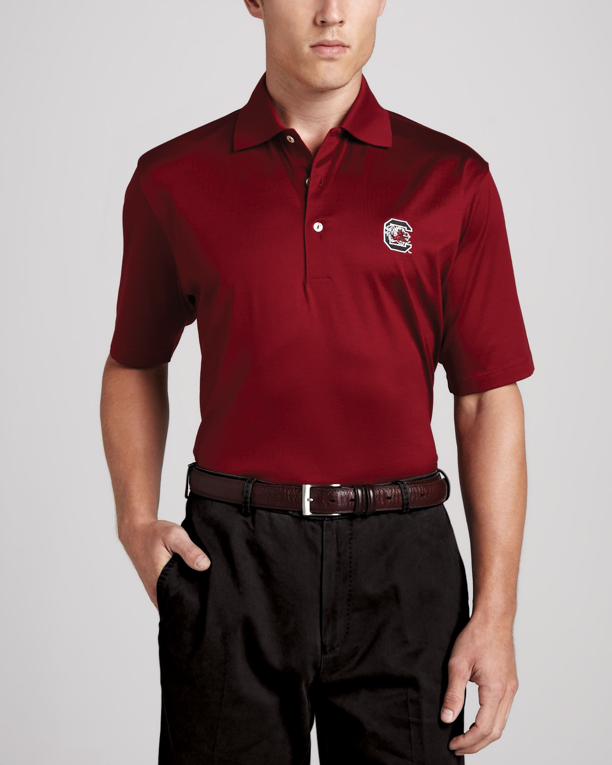 Mens South Carolina Gamecocks Gameday Polo College Shirt, Maroon   Peter