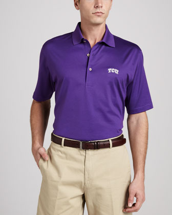 TCU Gameday Polo College Shirt, Purple