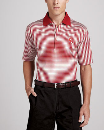 OU Gameday College Shirt Polo, Striped