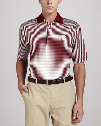 Florida State Gameday College Shirt Polo, Striped