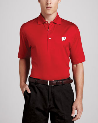 Wisconsin Gameday College Shirt Polo, Red